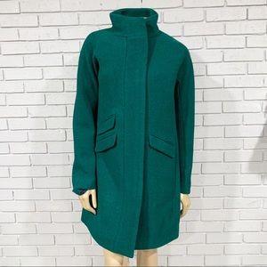 J.Crew Tall cocoon Italian stadium-cloth wool coat